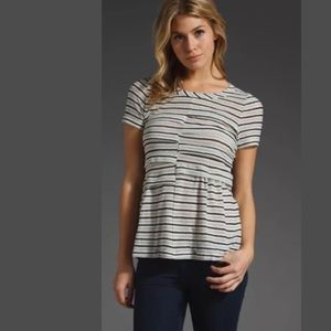 Marc By Marc Jacobs Striped Pintuck Top